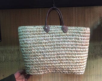 moroccan leather basket