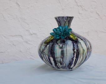 Watercolor Lotus Vase