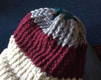 Thick yarn beanie