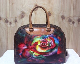 Hand-painted bag. (Reversible)
