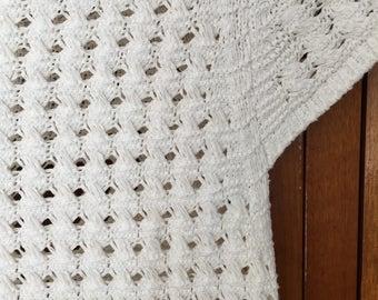 80's white knit