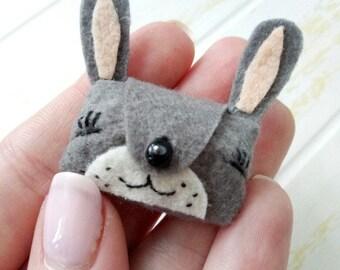 Blythe bag | doll bag | blythe accessories | Blythe clothes |  Pullip accessories | Doll handbag | Felt hare bag | Blythe clutch