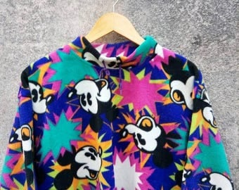 Vintage Mickey Fleece All Over Print Pullover