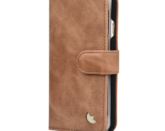 iPhone 6S Plus Case / Wallet. Premium Leather Wallet Case for Apple iPhone by MediaSkins (iPhone 6 Plus / 6S Plus, Tan) (Brown)