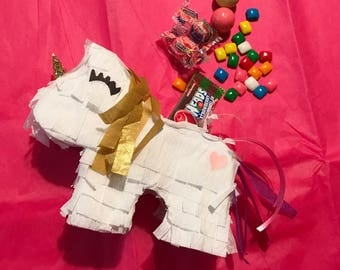 Unicorn piñata, mini unicorn piñata, party favors,