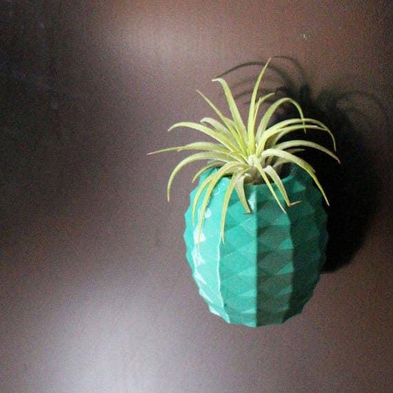 Magnetic Pineapple Air Plant Holder for Fridges / Magnetic Air Planter