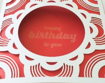 Laser Cut Scallop Birthday Card