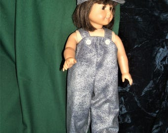 18 inch doll overalls