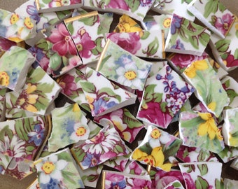 BRoKeN CHiNa MoSAiC TiLeS~~SHaDeS oF SuMMerTiMe Chintz~~SET # 2
