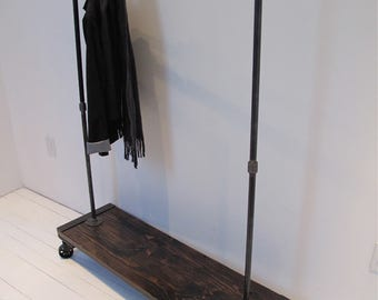 single shelf clothing garment rack modern industrial clothes rack retail display