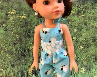 "Wellie Wisher H4H 14"" or 14.5"" doll Romper One piece Shorts"