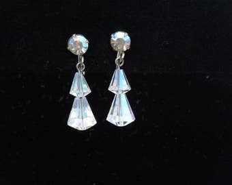 earrings dangle aurora borealis rhinestones