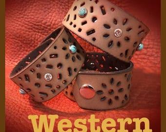 Leather Western Cuff
