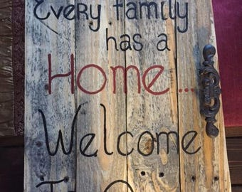 Every family has a home sign