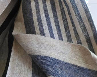 Pure Linen flax Fabric Canvas Decorator Upholstery Gray heavy weight ECOfriendly