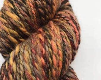 Hand Spun Merino Yarn - Blackforest 82g