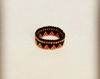 Peyote - model Leeve weave ring