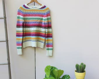 Fair Isle Rainbow Sweater