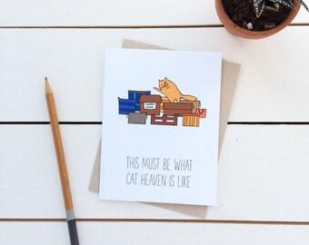 Cat Card - Cat Heaven