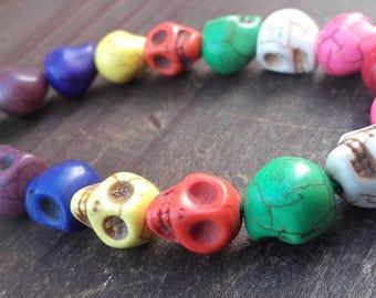 Sugar Skull Beads - Skull Jewelry, Day of the Dead, Dia de los Muertos, Skull Jewellery, Mexican Sugar Skull, Skull Supplies, Colorful Skull