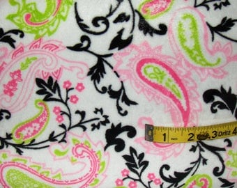 Paisley Flat Minky Fabric by the Yard