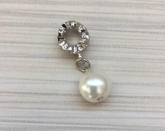1pcs Pearl charm Pandora style