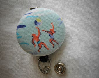 Volleyball badge reel, ID holder