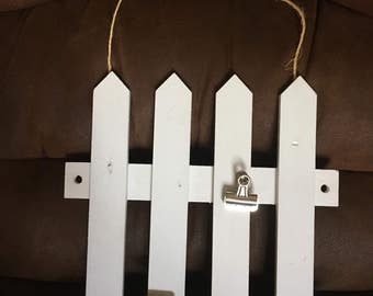 Picket Fence Picture Hanging