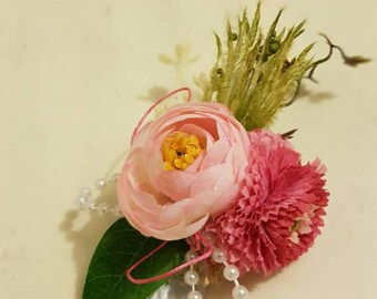 Baby flower crown pink