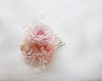 Preserved /Eternal real flower comb EMMA