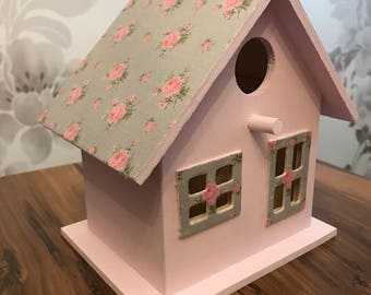 Hand painted and decorated bird house