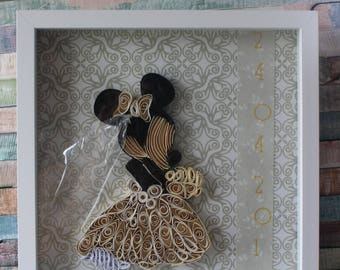 Personalised Wedding, Disney, Minnie Mouse, Wedding Gifts, Handmade, Memento, Keepsake, Wedding Gifts, Marriage Proposal, Engagement Gifts