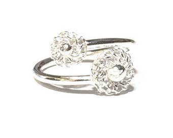 Gypsophila Design Adjustable Ring