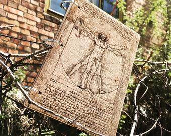 Wooden notepad, wooden notekbook, wood, handmade, sketchbook