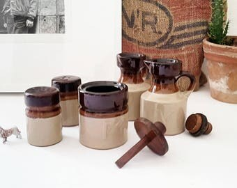 Full service vintage stoneware table
