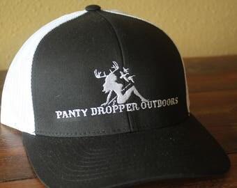 Panty Dropper Outdoors Snapback Mesh Baseball Hat Black/White