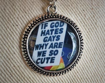 Gay pride; protest necklace