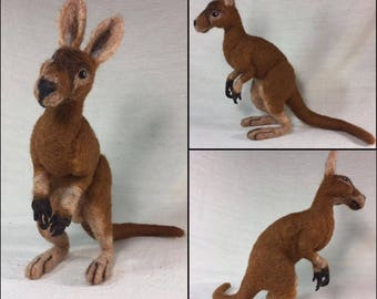 OOAK Needle Felted Kangaroo