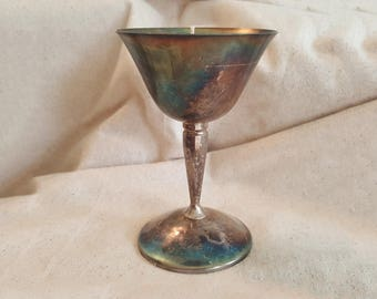 Vintage Silver Goblet poured Natural Soy wax with the Fresh scent of Rain