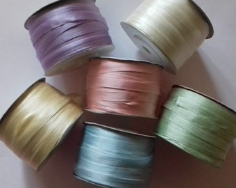 7mm SILK RIBBON Assorted Colours 6 Metres