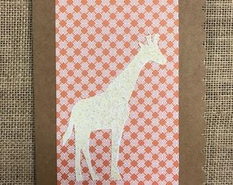 Spray Ink Giraffe Card
