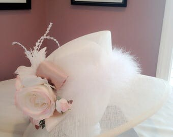 Wedding Hats, Party hats,Royal Ascot Hat, Mother's Day hat, Elegance Sinamay Derby hats, church hats, wedding hats.