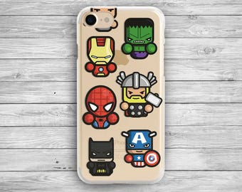 Batman iphone 7 case Avengers iphone 6 case superheros iphone 7 plus Captain America galaxy s8 Marvel galaxy samsung s7 Iron Man clear case