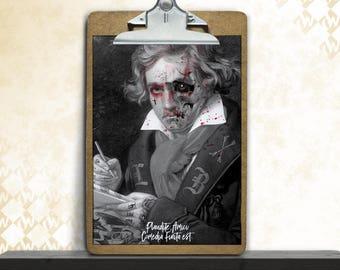 Dead Beethoven, art print, posters, fine art print, art print, poster art, horror, dark art