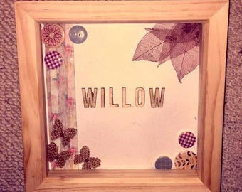 Personalised Children's Name Frame