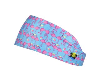 Florida Life - Flamingo Athleisure Headband - Lightweight Breathable, Stretchy, Non Slip