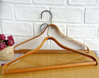 Old vintage set of wooden hangers era of the USSR, Set of 2 hangers, Made in USSR, Rustic Decor, Soviet Vintage Hanger, Wooden Cloth Hanger