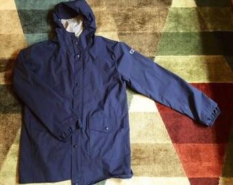 Navy blue raincoat   Etsy