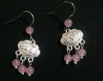 Pink Chalcedony Earring