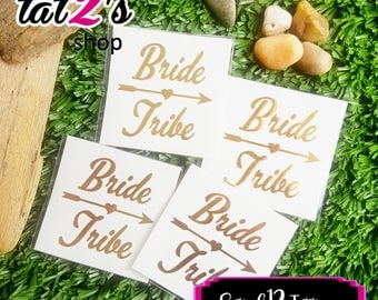 12 Bride Tribe Tattoos for Bachelorette parties, bachelorette party, Hen Party Tattoos, Gold tattoos